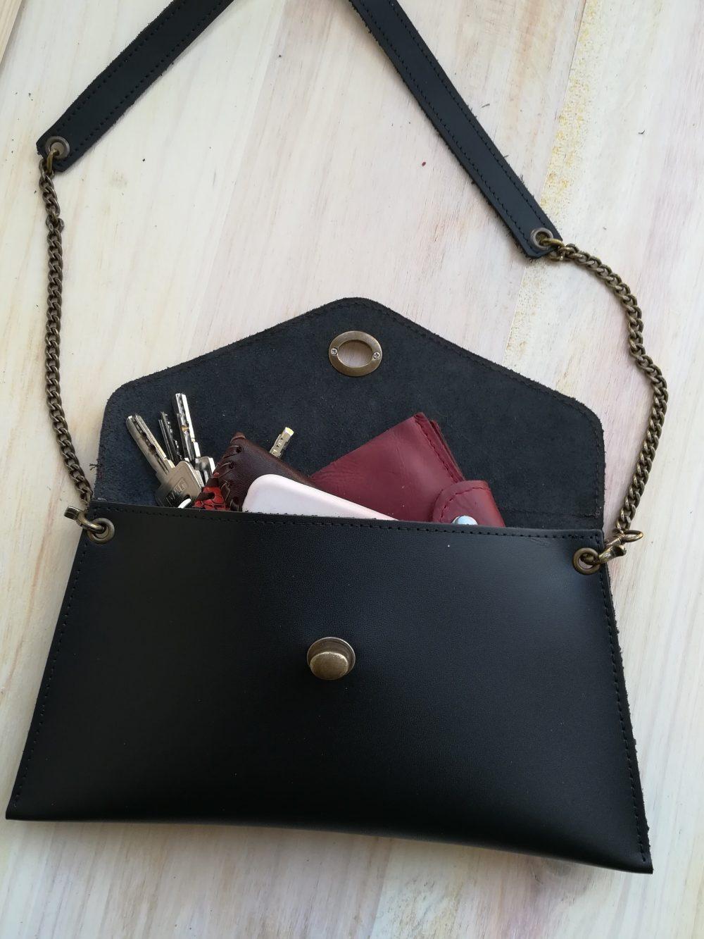 bolso de leopardo artesanales, bolsos de piel negros