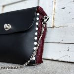 bolso artesano cuadrado negro bolso de piel artesanal