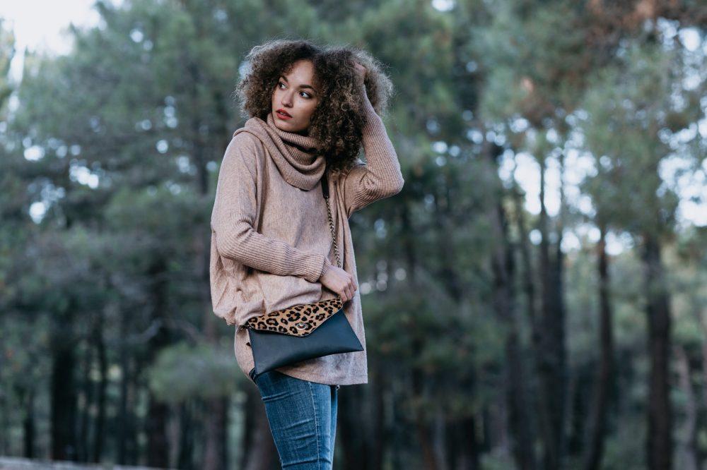 bolso piel leopardo