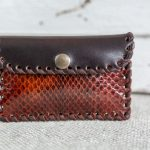 original monedero de piel con serpiente hechos a mano con piel de calidad estilo boho