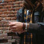 pulsera de cuero artesanal para hombre