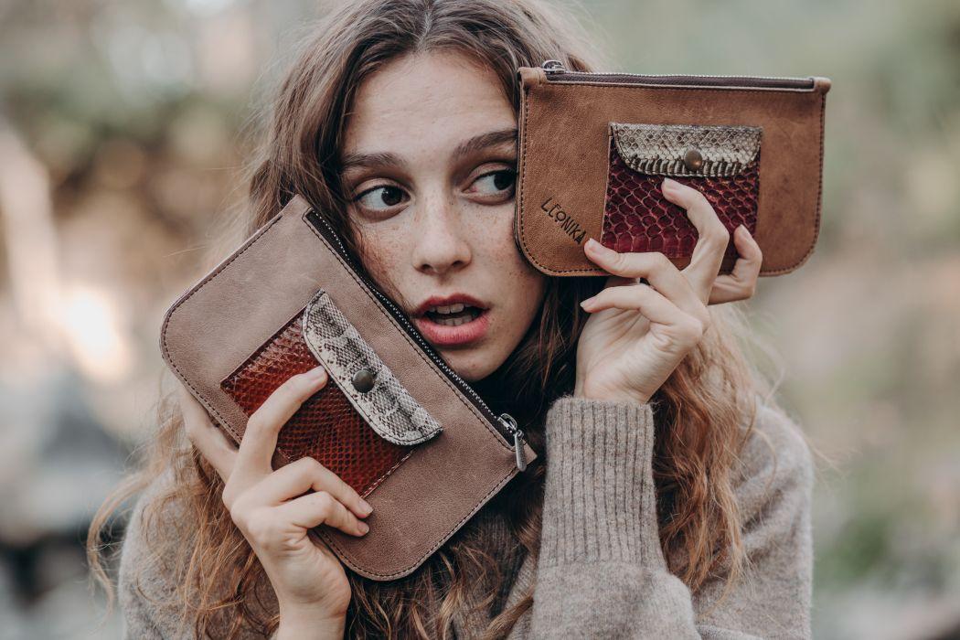 carteras para mujer artesanales monederos de cuero de mujer